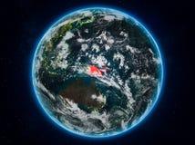 La Papouasie-Nouvelle-Guinée sur terre la nuit Illustration Libre de Droits