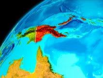 La Papuasia Nuova Guinea da spazio Fotografia Stock
