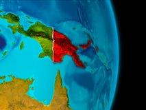 La Papuasia Nuova Guinea su terra Immagini Stock
