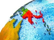 La Papuasia Nuova Guinea su terra 3D fotografia stock