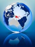 La Papuasia Nuova Guinea sul globo illustrazione vettoriale