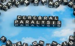 La parálisis cerebral de la palabra ilustración del vector
