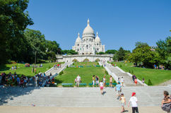 La París - 12 de septiembre de 2012: basilique du sacre Imagenes de archivo