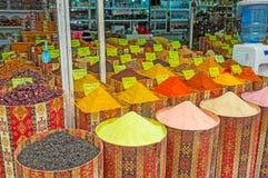 La parada de la especia en mercado turístico Fotos de archivo
