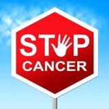 La parada del cáncer significa la señal y cánceres de peligro stock de ilustración