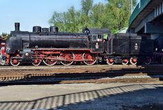 La parata annuale circa le locomotive a vapore in Wolsztyn, Polonia Fotografie Stock