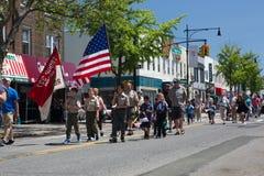 La parata annuale Glendale/di Ridgewood Memorial Day fotografia stock libera da diritti
