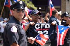 La parata della gente portoricana fotografia stock