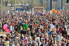 La parata delle bolle di sapone Dreamflash a VDNH Fotografia Stock