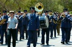 La parata delle fasce d'ottone del soldiery Immagine Stock