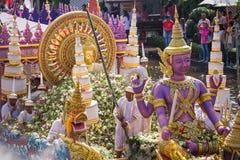 La parata di Chuck Bua Festival è una tradizione della gente locale in Samutprakan Fotografia Stock Libera da Diritti