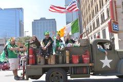 La parata di Houston St Patrick Immagine Stock Libera da Diritti