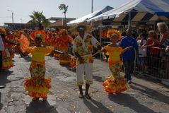 La parata a Dia di Rincon Bonaire Immagine Stock