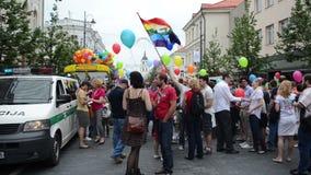 La parata gay della gente prepara archivi video