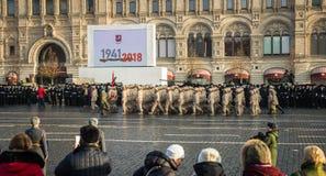 La parata militare dedicata alla parata hisorical ha tenuto nel 1941 fotografie stock libere da diritti
