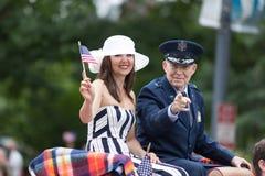 La parata nazionale di Memorial Day fotografia stock libera da diritti