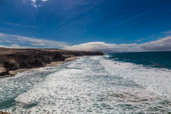 La Pared Beach-Fuerteventura,Canary Islands, Spain. La Pared Volcanic Beach - Fuerteventura, Canary Islands, Spain Royalty Free Stock Photo