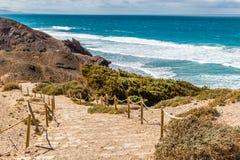La Pared Beach-Fuerteventura,Canary Islands, Spain. La Pared Volcanic Beach - Fuerteventura, Canary Islands, Spain Royalty Free Stock Photography