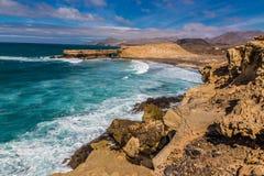 La Pared Beach-Fuerteventura,Canary Islands, Spain. La Pared Volcanic Beach - Fuerteventura, Canary Islands, Spain Stock Photo