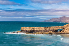 La Pared Beach-Fuerteventura,Canary Islands, Spain. La Pared Volcanic Beach - Fuerteventura, Canary Islands, Spain Stock Photos