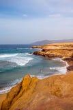 La Pared coast on Fuerteventura island. Sand coast near La Pared village on the south western part of Fuerteventura island Royalty Free Stock Images