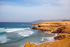 La Pared coast on Fuerteventura island. Sand coast near La Pared village on the south western part of Fuerteventura island Stock Image