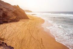 La Pared coast on Fuerteventura island. Sand coast near La Pared village on the south western part of Fuerteventura island Stock Images
