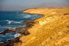 La Pared coast on Fuerteventura island. Sand coast near La Pared village on the south western part of Fuerteventura island Stock Photo