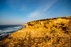 La Pared coast on Fuerteventura island. Sand coast near La Pared village on the south western part of Fuerteventura island Stock Photography