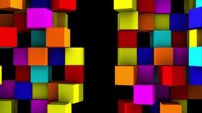 La pared colorida de cubos divide ilustración del vector