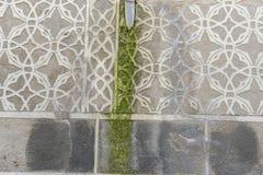La pared con adornos árabes talló en la roca, ciudad de Segovia, fam Imagen de archivo libre de regalías