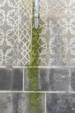 La pared con adornos árabes talló en la roca, ciudad de Segovia, fam Foto de archivo
