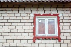 La pared con la ventana Fotos de archivo