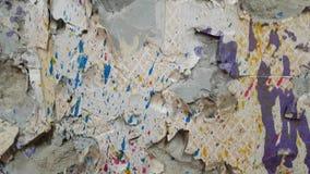 la pared con la pintura salpica metrajes