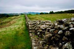 La pared de Hadrian Imagen de archivo libre de regalías