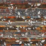 la pared de la hoja teja la decoración en el mármol de color marrón para las tejas caseras o al azar decoración, papel pintado, l libre illustration