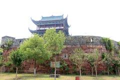 La pared de la ciudad antigua en China Fotos de archivo libres de regalías