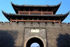 La pared de la ciudad antigua en la ciudad de Ganzhou, China Foto de archivo libre de regalías
