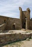 La pared de la fortaleza Genoese Imagenes de archivo