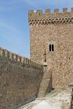 La pared de la fortaleza Genoese Imágenes de archivo libres de regalías