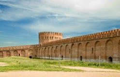 La pared de la fortaleza. Rusia Fotografía de archivo