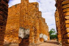 La pared de ladrillo antigua es Fotografía de archivo libre de regalías