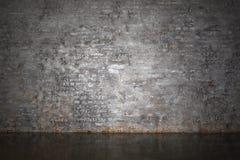 La pared de ladrillo gris Foto de archivo libre de regalías