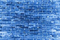 La pared de ladrillos azul imagen de archivo