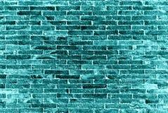 La pared de ladrillos azul Fotos de archivo