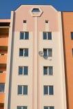 La pared de las casas de la alta subida Imágenes de archivo libres de regalías