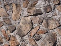 La pared de las piedras grandes y ásperas Imagen de archivo libre de regalías