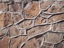 La pared de las piedras grandes y ásperas Imagen de archivo