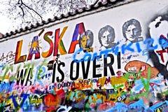 La pared de Lennon Imágenes de archivo libres de regalías