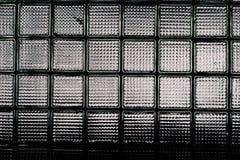 La pared de los bloques de cristal Imágenes de archivo libres de regalías
